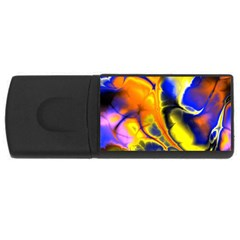 Fractal Art Pattern Cool Usb Flash Drive Rectangular (4 Gb) by Nexatart