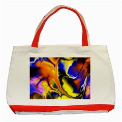 Fractal Art Pattern Cool Classic Tote Bag (red)