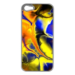 Fractal Art Pattern Cool Apple Iphone 5 Case (silver) by Nexatart