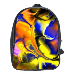 Fractal Art Pattern Cool School Bags (xl)
