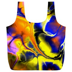 Fractal Art Pattern Cool Full Print Recycle Bags (l)  by Nexatart