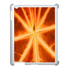 Red Leaf Macro Detail Apple Ipad 3/4 Case (white) by Nexatart
