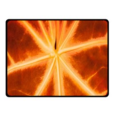 Red Leaf Macro Detail Double Sided Fleece Blanket (small)  by Nexatart