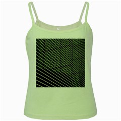 Abstract Architecture Pattern Green Spaghetti Tank
