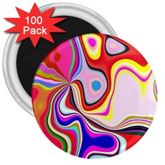 Colourful Abstract Background Design 3  Magnets (100 Pack) by Nexatart
