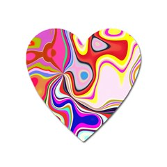 Colourful Abstract Background Design Heart Magnet by Nexatart
