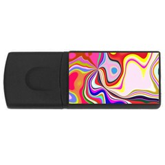 Colourful Abstract Background Design Usb Flash Drive Rectangular (4 Gb) by Nexatart