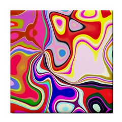 Colourful Abstract Background Design Face Towel by Nexatart