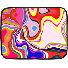 Colourful Abstract Background Design Fleece Blanket (mini) by Nexatart