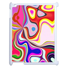Colourful Abstract Background Design Apple Ipad 2 Case (white) by Nexatart