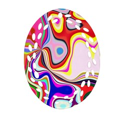 Colourful Abstract Background Design Ornament (oval Filigree)