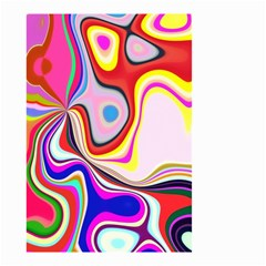 Colourful Abstract Background Design Small Garden Flag (two Sides) by Nexatart