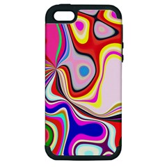 Colourful Abstract Background Design Apple Iphone 5 Hardshell Case (pc+silicone) by Nexatart