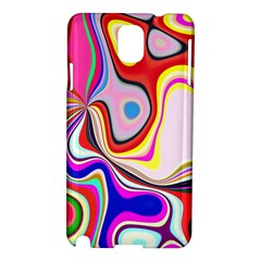 Colourful Abstract Background Design Samsung Galaxy Note 3 N9005 Hardshell Case by Nexatart
