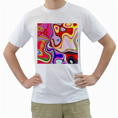 Colourful Abstract Background Design Men s T Shirt (white)