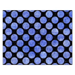 Circles2 Black Marble & Blue Watercolor Jigsaw Puzzle (rectangular) by trendistuff