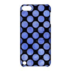 Circles2 Black Marble & Blue Watercolor Apple Ipod Touch 5 Hardshell Case With Stand by trendistuff