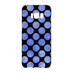 Circles2 Black Marble & Blue Watercolor Samsung Galaxy S8 Hardshell Case  by trendistuff