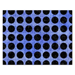 Circles1 Black Marble & Blue Watercolor (r) Jigsaw Puzzle (rectangular)