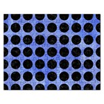 CIRCLES1 BLACK MARBLE & BLUE WATERCOLOR (R) Jigsaw Puzzle (Rectangular) Front