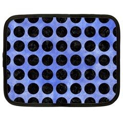 Circles1 Black Marble & Blue Watercolor (r) Netbook Case (xl) by trendistuff