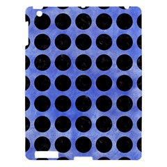 Circles1 Black Marble & Blue Watercolor (r) Apple Ipad 3/4 Hardshell Case by trendistuff