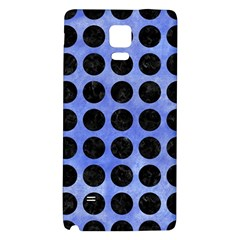 Circles1 Black Marble & Blue Watercolor (r) Samsung Note 4 Hardshell Back Case by trendistuff