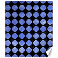 Circles1 Black Marble & Blue Watercolor Canvas 20  X 24  by trendistuff