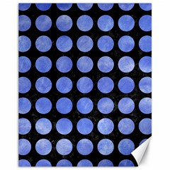 Circles1 Black Marble & Blue Watercolor Canvas 11  X 14  by trendistuff