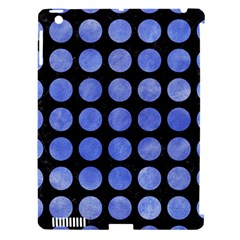 Circles1 Black Marble & Blue Watercolor Apple Ipad 3/4 Hardshell Case (compatible With Smart Cover) by trendistuff