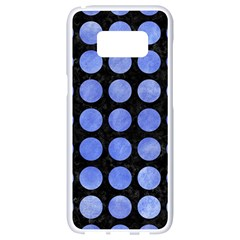 Circles1 Black Marble & Blue Watercolor Samsung Galaxy S8 White Seamless Case by trendistuff