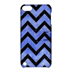 Chevron9 Black Marble & Blue Watercolor (r) Apple Ipod Touch 5 Hardshell Case With Stand by trendistuff