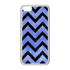 Chevron9 Black Marble & Blue Watercolor (r) Apple Iphone 5c Seamless Case (white) by trendistuff