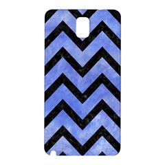 Chevron9 Black Marble & Blue Watercolor (r) Samsung Galaxy Note 3 N9005 Hardshell Back Case by trendistuff
