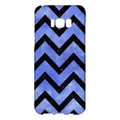 Chevron9 Black Marble & Blue Watercolor (r) Samsung Galaxy S8 Plus Hardshell Case