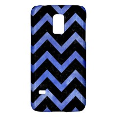 Chevron9 Black Marble & Blue Watercolor Samsung Galaxy S5 Mini Hardshell Case  by trendistuff