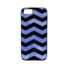 Chevron3 Black Marble & Blue Watercolor Apple Iphone 5 Classic Hardshell Case (pc+silicone) by trendistuff
