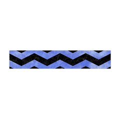 Chevron3 Black Marble & Blue Watercolor Flano Scarf (mini) by trendistuff
