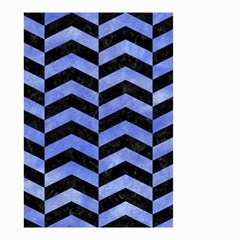 Chevron2 Black Marble & Blue Watercolor Small Garden Flag (two Sides) by trendistuff