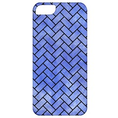 Brick2 Black Marble & Blue Watercolor (r) Apple Iphone 5 Classic Hardshell Case by trendistuff