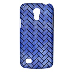 Brick2 Black Marble & Blue Watercolor (r) Samsung Galaxy S4 Mini (gt I9190) Hardshell Case  by trendistuff