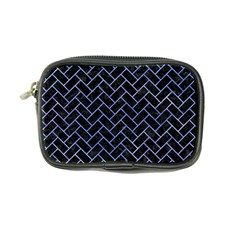 Brick2 Black Marble & Blue Watercolor Coin Purse