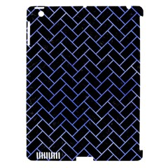 Brick2 Black Marble & Blue Watercolor Apple Ipad 3/4 Hardshell Case (compatible With Smart Cover) by trendistuff