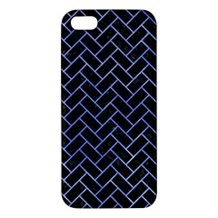 Brick2 Black Marble & Blue Watercolor Iphone 5s/ Se Premium Hardshell Case by trendistuff