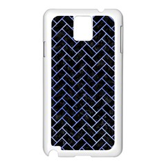 Brick2 Black Marble & Blue Watercolor Samsung Galaxy Note 3 N9005 Case (white) by trendistuff