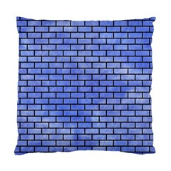 Brick1 Black Marble & Blue Watercolor (r) Standard Cushion Case (two Sides) by trendistuff