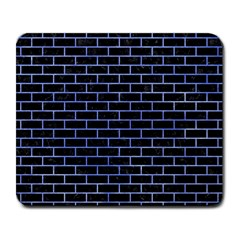 Brick1 Black Marble & Blue Watercolor Large Mousepad by trendistuff