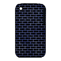 Brick1 Black Marble & Blue Watercolor Apple Iphone 3g/3gs Hardshell Case (pc+silicone) by trendistuff