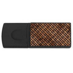 Woven2 Black Marble & Brown Stone (r) Usb Flash Drive Rectangular (4 Gb) by trendistuff