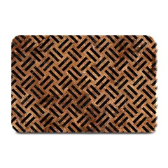 Woven2 Black Marble & Brown Stone (r) Plate Mat by trendistuff